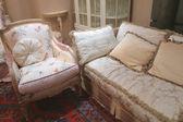 Sofa and armchair — Stock Photo