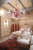 Yatak odasında vintage tarzı — Stok fotoğraf