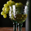 Stock Photo: Goblet with new wines