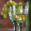 Two Goblets and Grape — Stock Photo