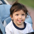 Adorable naughty kid, soft focus — Stock Photo