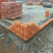 Stock Photo: Construction of brick building