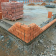 Construction of the brick building — Stock Photo #1373902