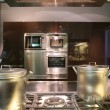 Stok fotoğraf: Interiors of kitchen with gas fryer