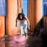 Man runs on the water — Stock Photo #1374046