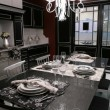 Modern dinning-room with served table - Foto de Stock