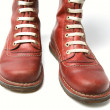 Old Red Boots - Stockfoto