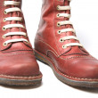 Old Red Boots - Stock Photo
