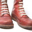 Old Red Boots - Zdjcie stockowe
