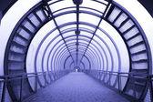 Futuristic glass corridor — Stock Photo