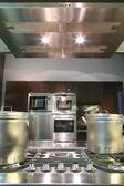 Modern mutfak gaz fritöz — Stok fotoğraf