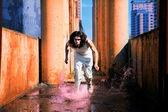 Man runs on the water — Stock Photo