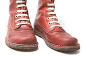 Old Red Boots — Stock Photo
