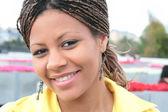 Attractive black woman — Stock Photo