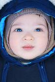 Adorable baby, soft focus — Stock Photo