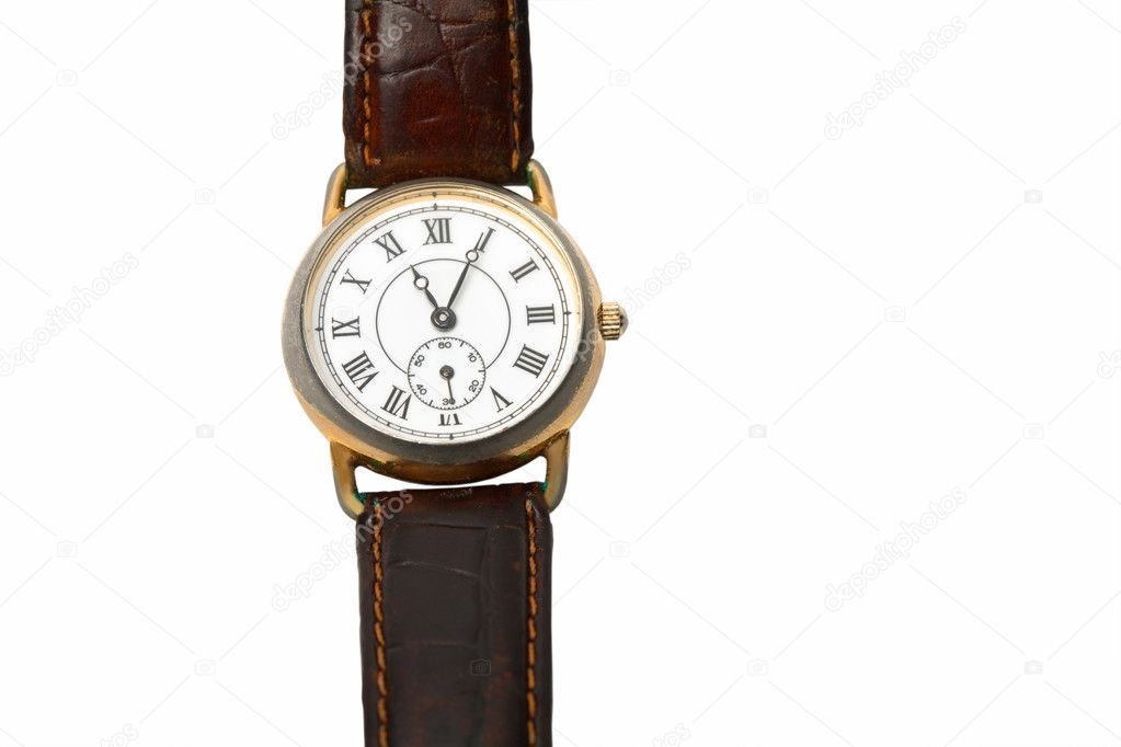Old WRIST WATCH on Leather Band — Stock Photo #1375239