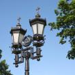 gamla tiders Moskva gatan lampa — Stockfoto