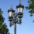 Old-time Moskou straat lamp — Stockfoto