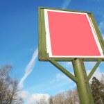 rode billboard — Stockfoto