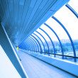 Futuristic glass corridor — Stock Photo #1383324