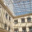 Interior with glass ceiling and windows — Stock Photo