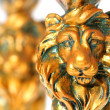 Two Golden Lions - Stock Photo