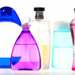 Stock Photo: Five Varicolored Vials