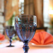 Blue Goblet for Wine — Stock Photo