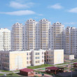 New high-rise dwelling, Russia, Moscow — Stock Photo #1387030