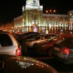 Moscow, Night, Triumphalnaya ploschad — Stock Photo