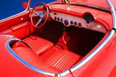 Interior of the Red Car 60-70 — Stock Photo