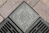 Cast-iron Lattice, Texture, Fragment — Stock Photo