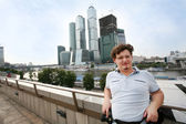 Tourist in Moscow — Stock Photo