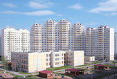 New high-rise dwelling, Russia, Moscow — Stock Photo