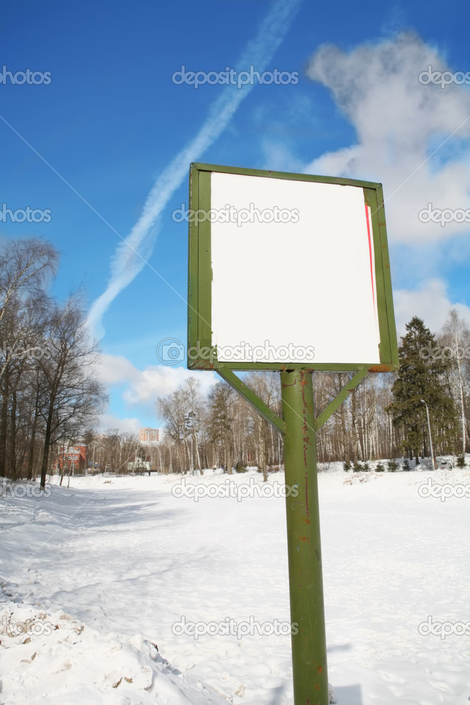 Empty billboard with copy-space on the landscape background — Stock Photo #1383173