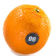 Orange with number 86 or 98 — Stock Photo