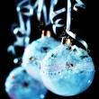 Christmas blue balls - Foto Stock