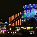 Festive lights of the big city — Stock Photo