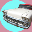 Vintage White Car 60 — Foto Stock