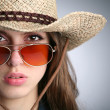 Stock Photo: Girl in stetson