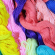 Varicolored cotton threads — Stock Photo