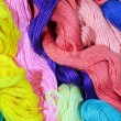 Stock Photo: Varicolored cotton threads