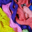 Texture of varicoloured threads - Stock Photo