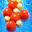 Red and yellow tablet - Foto de Stock