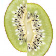 Shifted  kiwi, exotic fruit - Stock Photo