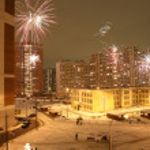 Festive night firework — Stock Photo