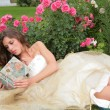 Princess with book in hand — Stock Photo