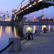 Torch on quay of the Moscow-river — Stock Photo
