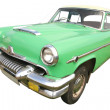 Green retro car 50 - Stock Photo