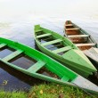 Three wooden boats - Stock Photo
